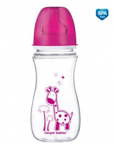 Butelka szerokootworowa EasyStart Kolorowe zwierzątka 300 ml Canpol Babies