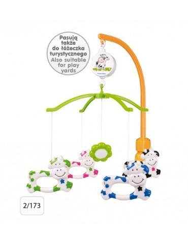 Karuzela plastikowa z uniwersalnym uchwytem  Krówki Canpol babies