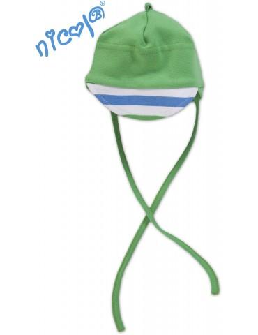 Czapka bawełniana niemowlęca PTASZEK 62-68 Nicola