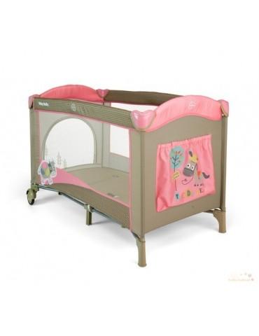 Milly Mally łóżeczko turystyczne Mirage Pink cow