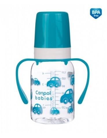 Canpol babies butelka animals 120 ml z uchwytami