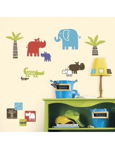 Naklejki Kolorowe safari Roommates
