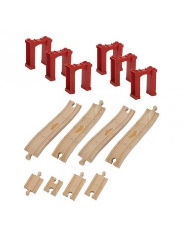 Drewniane tory ze wspornicami Tomy Stacyjkowo