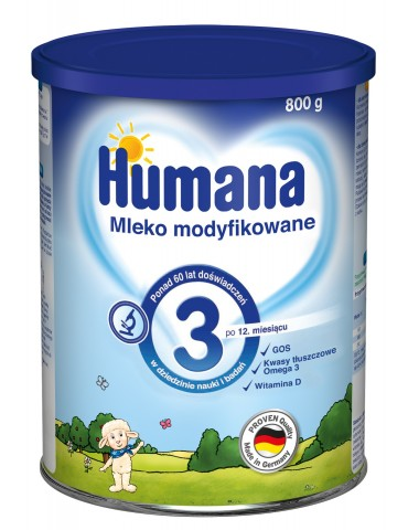 Humana mleko modyfikowane 3 800g