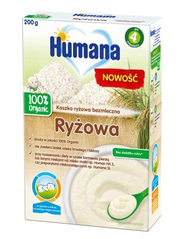 Humana kaszka bezmleczna ryżowa 100% organic 200g