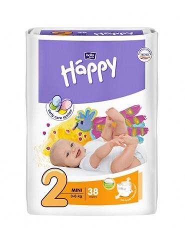 Pieluszki Bella Baby Happy 2 Mini - 38 sztuk