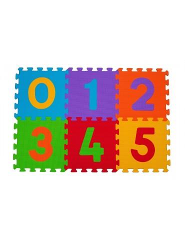 Mata puzzle piankowe podłogowe CYFRY 6 sztuk BabyOno
