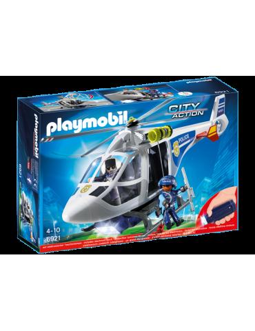 Helikopter policyjny + elektroniczna latarka Playmobil