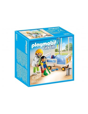 Lekarka przy łóżku chorego dziecka Playmobil