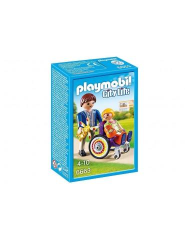 Dziecko na wózku inwalidzkim Playmobil