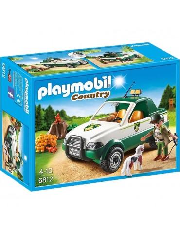 Leśniczy z samochodem Pick up i psem Playmobil