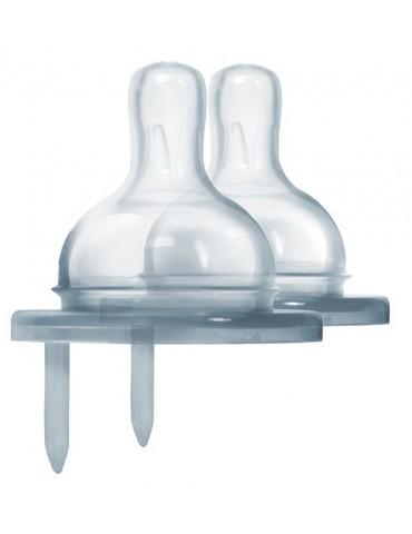 Smoczek dla niemowląt - wolny przepływ do butelek Pura Kiki, 2 szt