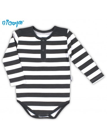 Body niemowlęce bawełniane długi rękaw SZOP 74-98 Nicola