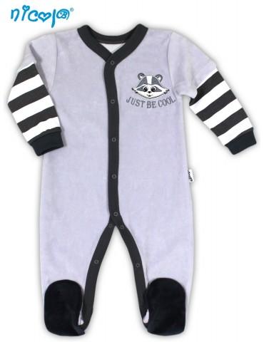 Pajac niemowlęcy welurowy SZOP 56-80 Nicola