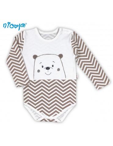 Body niemowlęce bawełniane długi rękaw MIŚ 74-98 Nicola