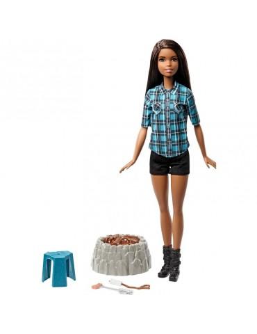 Barbie Lalka Barbie Brunetka na biwaku Światło Dźwięk