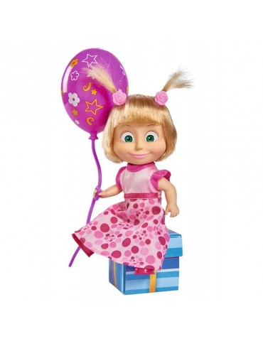 Simba Masza i Niedźwiedź Lalka z dźwiękiem Masza i urodzinowe przyjęcie