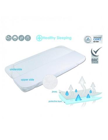 BabyMatex Podkład paroprzepuszczalny Safe frotte Biały 70x140 cm