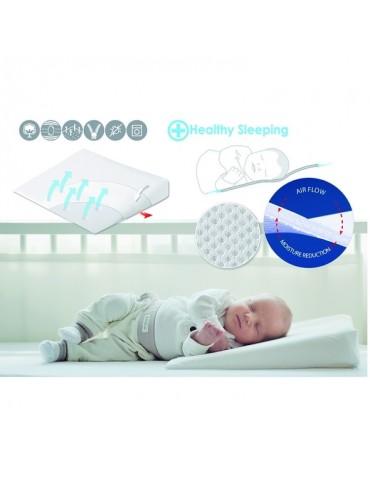 BabyMatex Poduszka dla niemowląt Aeroklin Biała 40x36 cm