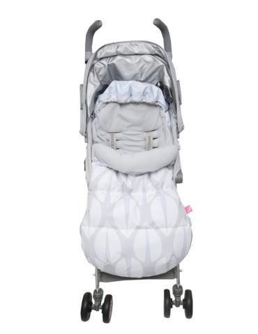 Motherhood 2w1 Śpiworek i Antywstrząsowa wkładka do wózka drzewka niebieskie