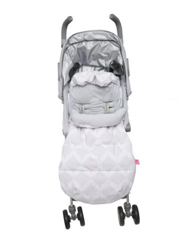 Motherhood 2w1 Śpiworek i Antywstrząsowa wkładka do wózka classics różowy