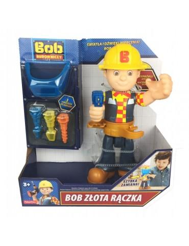Fisher Price Bob Budowniczy Figurka Bob Złota Rączka Światło Dźwięk