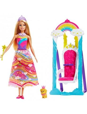 Barbie Dreamtopia - Huśtawka Księżniczki + Lalka