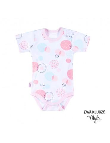 Body niemowlęce bawełniane dziewczęce krótki rękaw druk LITTLE CHAMPION by Otylia 68-98 Ewa Klucze