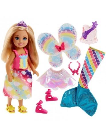 Barbie Dreamtopia Kraina Tęczy Lalka Chelsea Baśniowa przemiana