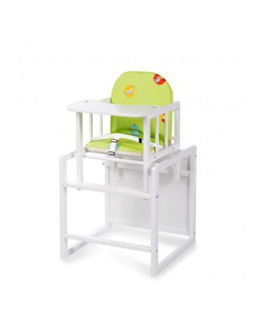 Krzesełko AGA w kolorze białym i sosnowym Klupś