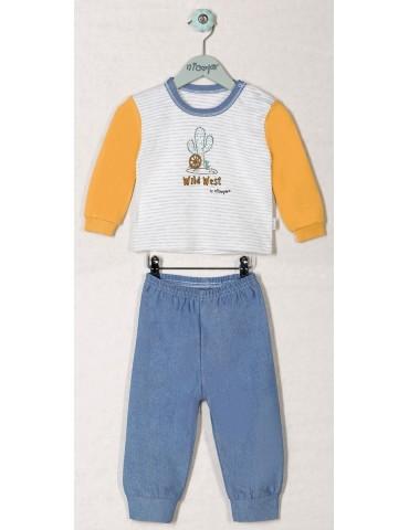 Piżama dziecięca bawełniana WILD WEST 80-104 Nicola