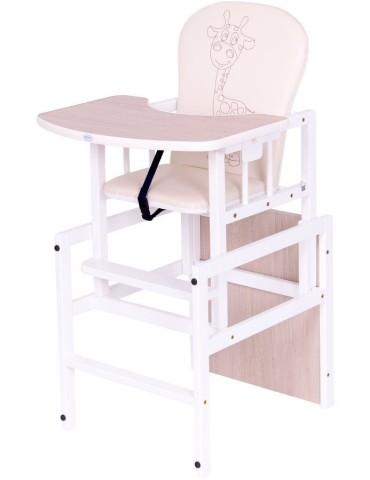 Drewex Krzesełko dla dzieci Antoś żyrafka naturalny
