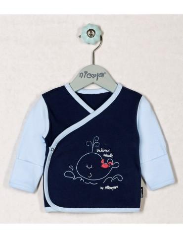 Koszulka niemowlęca bawełniana WIELORYB 48-68 Nicola