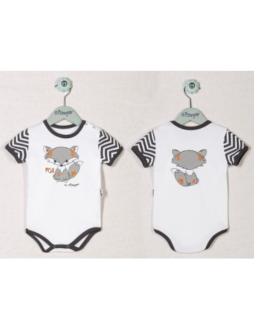 Body niemowlęce bawełniane krótki rękaw FOX 68-98 Nicola