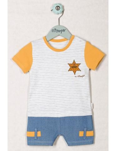 Body niemowlęce bawełniane kr/rękaw PTASZEK 74-98 Nicola