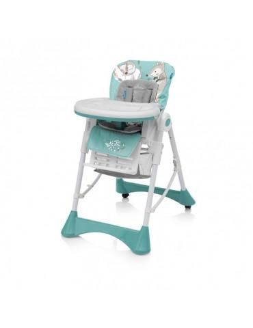 Krzesełko do karmienia Pepe Baby Design turkusowe new