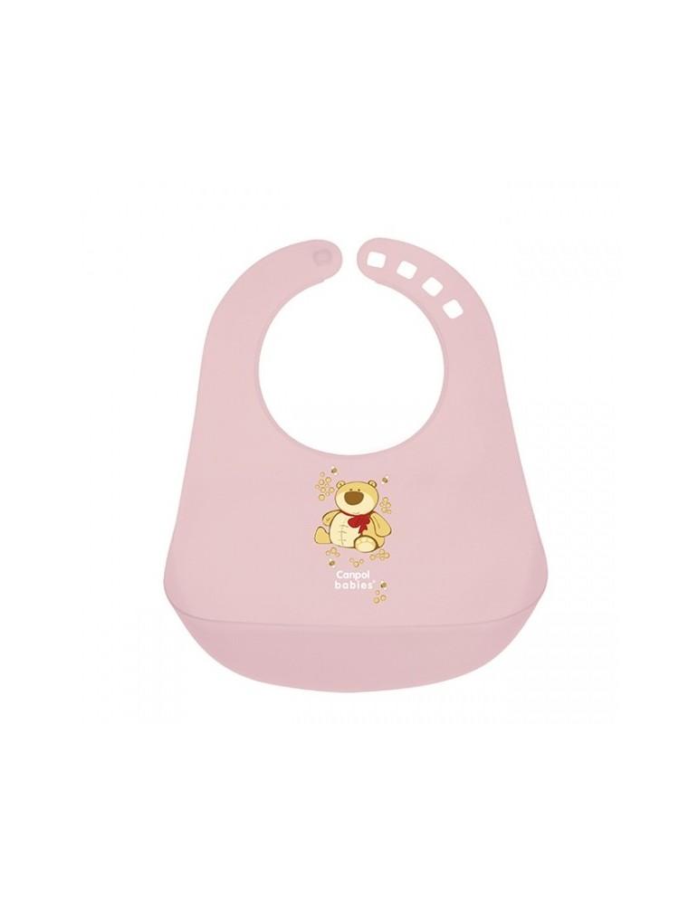 Śliniak plastikowy z kieszenią Canpol Babies