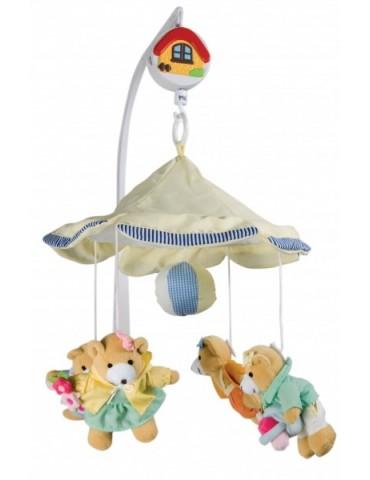 Karuzela pluszowa Misie-dziewczynki pod parasolem Canpol Babies
