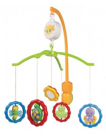 Karuzela plastikowa z uniwersalnym uchwytem - Zwierzątka z lusterkami Canpol Babies