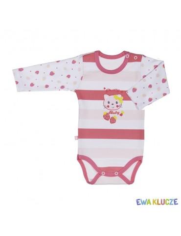 Body niemowlęce bawełniane długi rękaw CITY 68-104 Ewa Klucze
