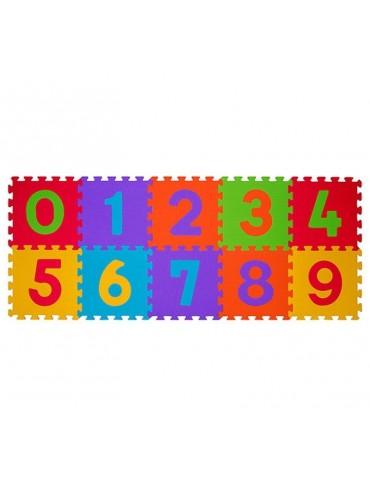Mata puzzle piankowe podłogowe CYFRY 10 sztuk BabyOno