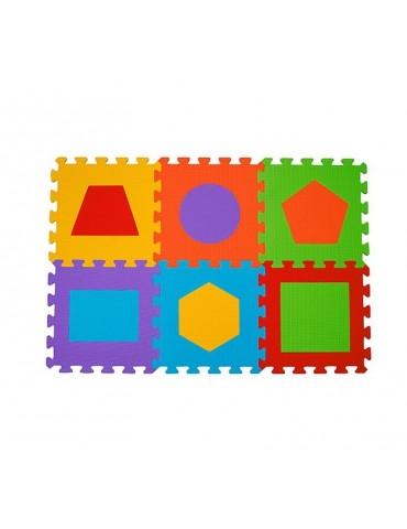 Mata puzzle piankowe podłogowe FIGURY 6 sztuk BabyOno