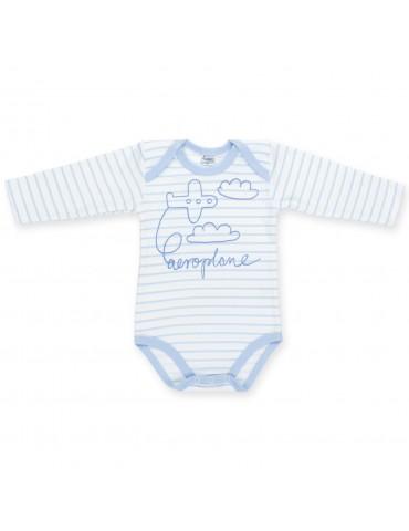 Body niemowlęce bawełniane długi rękaw HAPPY KIDS 74-98 Pinokio