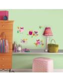 Naklejki Kolorowe sowy Roommates