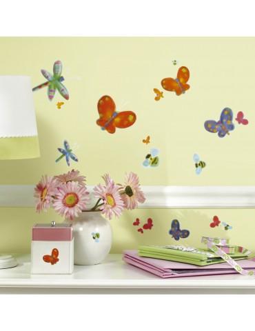 Naklejki Motyle i ważki Roommates