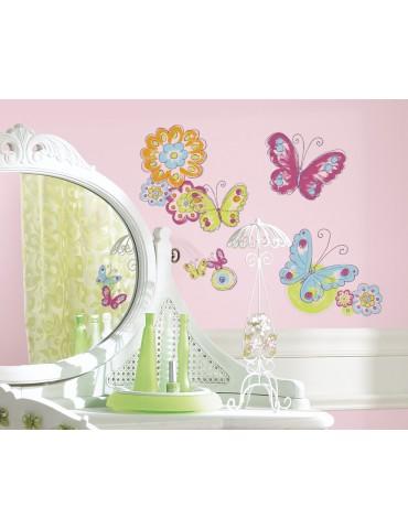 Naklejki Kolorowe motyle Roommates