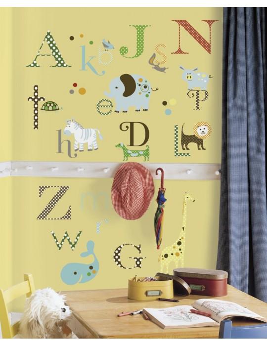 Naklejki Zwierzęcy alfabet Roommates