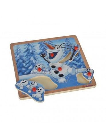 Drewniane puzzle kształty z uchwytem Olaf Frozen Simba