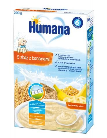 Humana kaszka mleczna 5 zbóź z bananami 200g