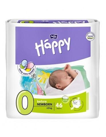 Pieluszki Bella Baby Happy 0 Before Newborn - 46 sztuk